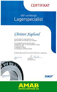 SKF-certifikat-C-Asplund
